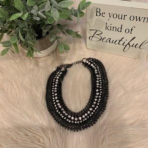 Jewelry - Stunning gunmetal & crystals Necklace